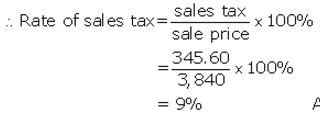 Selina Concise Mathematics Class 10 ICSE Solutions Value Added Tax image - 1