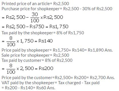 Selina Concise Mathematics Class 10 ICSE Solutions Value Added Tax image - 13