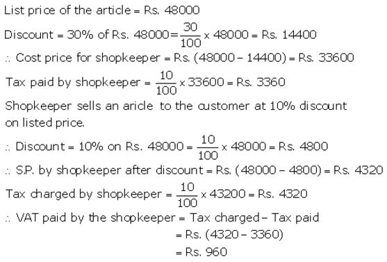Selina Concise Mathematics Class 10 ICSE Solutions Value Added Tax image - 26