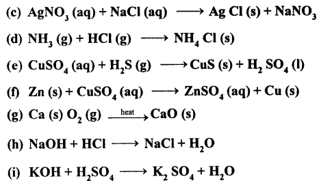 Selina Concise Chemistry Class 8 ICSE Solutions - Chemical Reactions 16