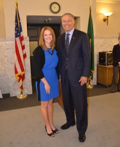 Governor Inslee and Chair Maria Peterson