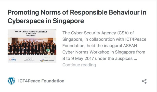2nd ASEAN Cyber Norms Workshop in Singapore supported by