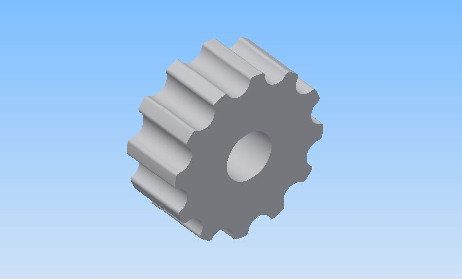 How To Model A Simple Gear With Autodesk Inventor.
