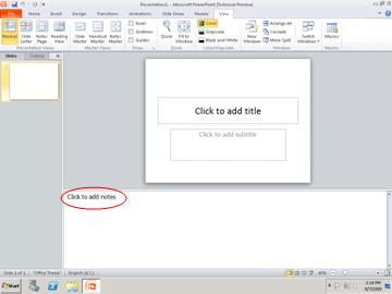 HOW TO CREATE AND PRINT NOTES PAGES USING MS POWERPOINT