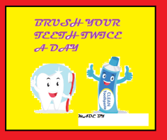 BRUSH TEETH FLASHCARD