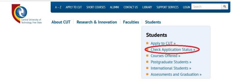 How To Check Your Central University of Technology Application Status