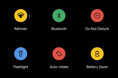 Google is testing multi-colored Quick Settings icons in Android 11
