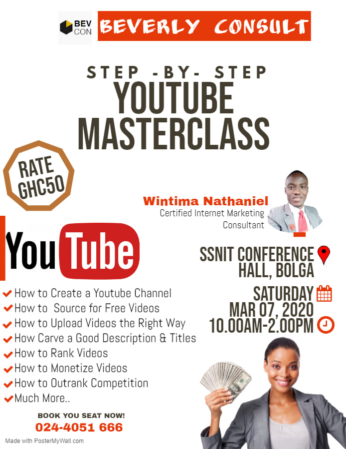 Step By Step YouTube MasterClass With Beverly Consult