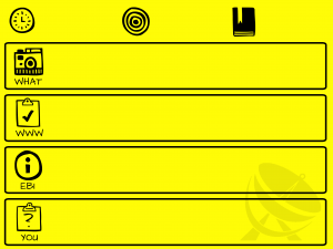 Feedback sheet yellow