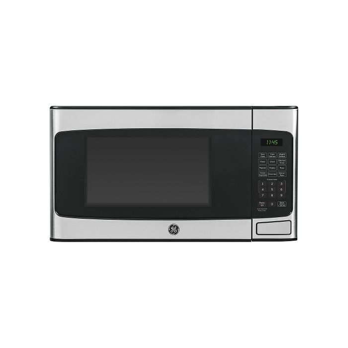 ge jes1145shss 1 1 cu ft mid size microwave stainless steel