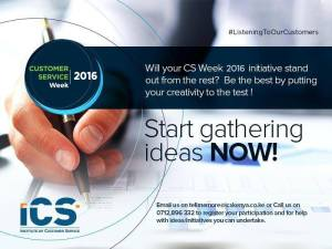 Personalize your Customer Excellence? #CSWeek2016