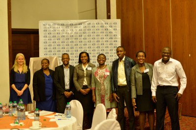 ICS team, Msurvey team and the panelist pose for the camera after a delightful event