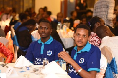 Sportpesa team represented their orgnization with branded t-shirts