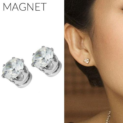 Anting  Minimalist Diamond Magnet Earrings OKT286