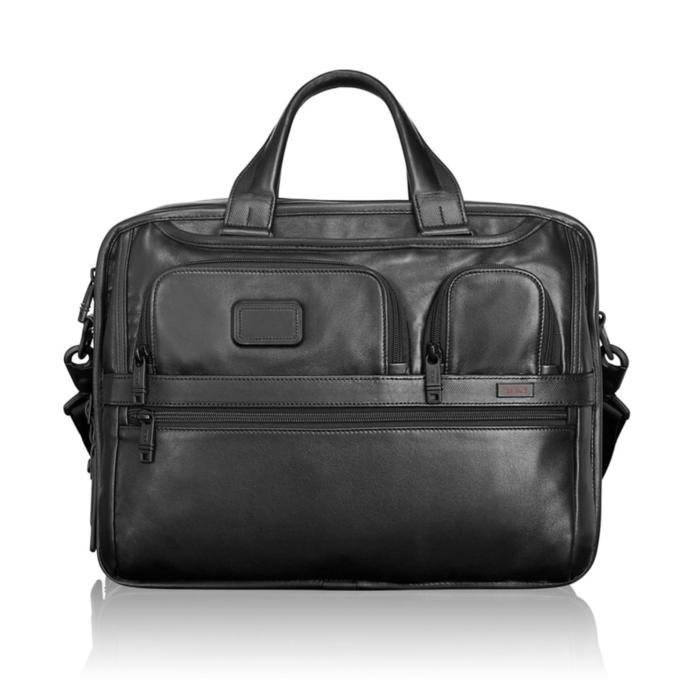 Tas TUMI Alpha 2 Expandable Organizer Laptop Leather Brief