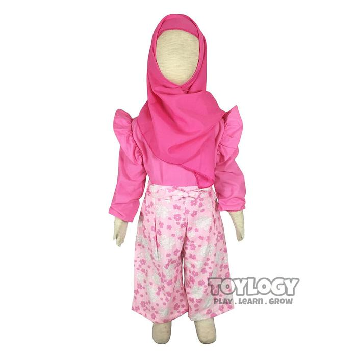 TERLARIS  Grow Baju dan Celana Setelan Muslimah Anak Kulot - Childerns Clothes  PROMO