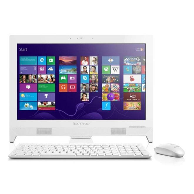 Lenovo Ideacenter AIO 310-20IAP-03ID WHITE AMD E2-9000-4GB DDR3-500GB-W10H-1YR