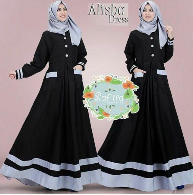 baju muslim Alisha dress grosir