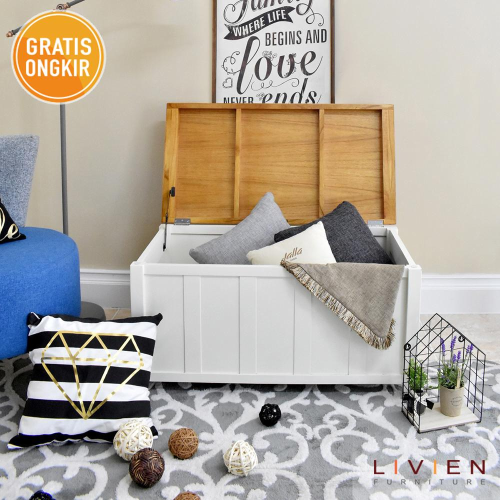 LIVIEN Furniture - Storage Bench Maple Story - Bench Multifungsi - Storage Box - Kursi