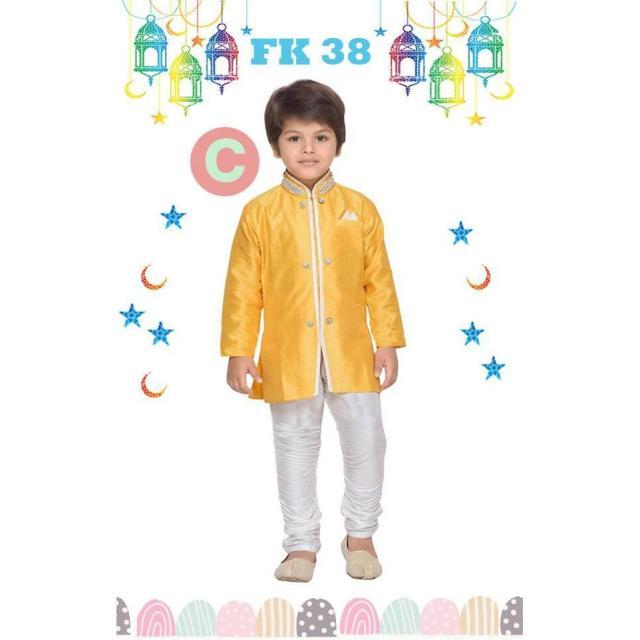 FK 38C Baju Koko Anak Kecil India Pakistan Lebaran Import Kuning