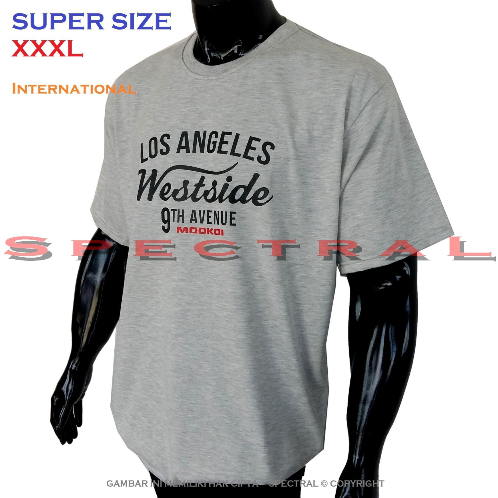 Spectral – SUPER BIG SIZE XXXL INTERNATIONAL 100% Soft Cotton Combed Kaos Distro Jumbo BIGSIZE T-Shirt Fashion Ukuran Besar Polos Celana Atasan Pria Wanita Katun Bapak Orang Tua Gemuk Gendut Lengan Simple Sport Casual 3L 3XL Baju Cowo Cewe Pakaian Terbaru