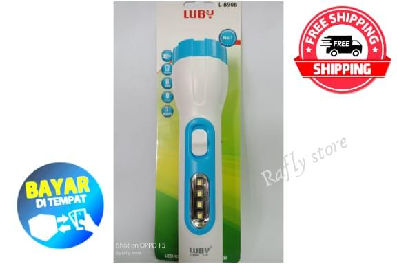 R/S; Senter Cas Luby L-8908 Lampu Rechargeable & Senter Lampu Emergency Dan Senter LED Senter Charger LED LUBY L-8908 / Rafly Store