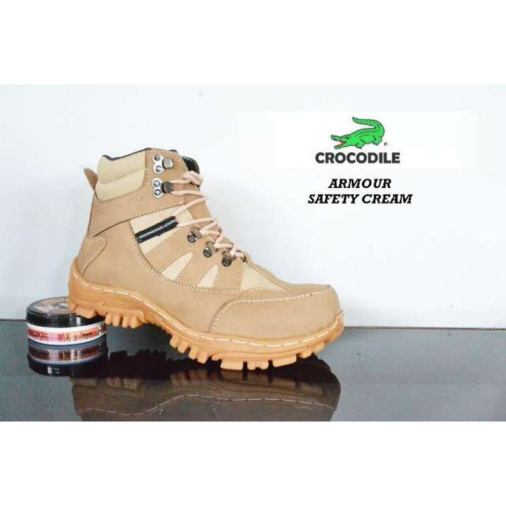 Sepatu Crocodile Armour Safety Boots Cream
