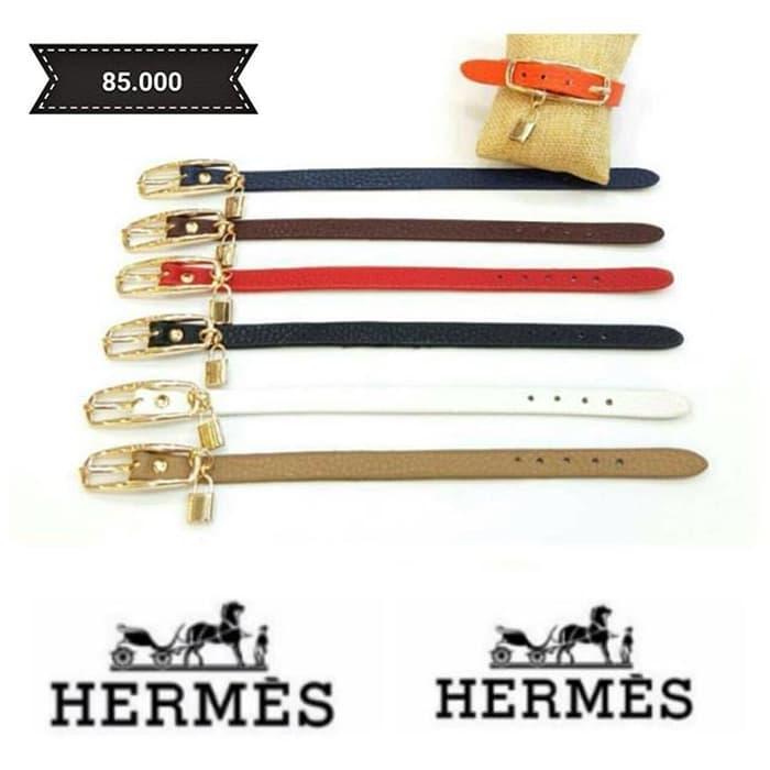 BEST SELLER Gelang - Hermes simple belt padlock bracelet - toZiuqsx