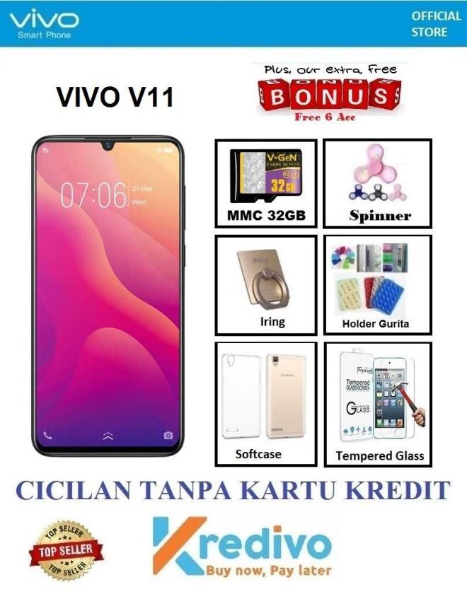 Vivo V11 Ram 6GB/64GB - Cicilan Tanpa Kartu Kredit + Extra Bonus 6 Items