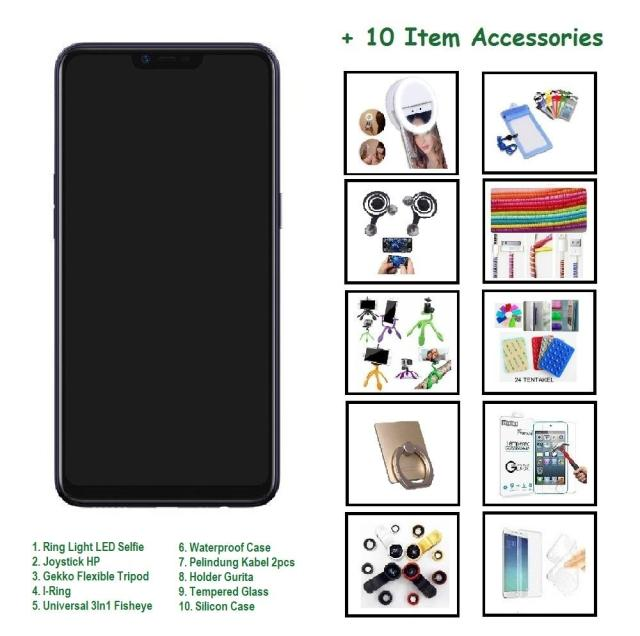 OPPO A3S [2/16GB] + 10 ITEM ACCESSORIES
