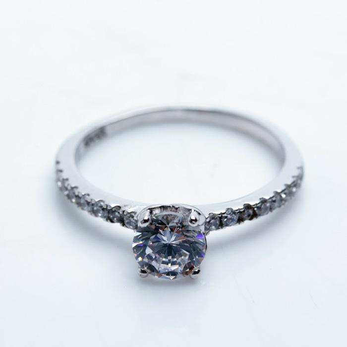Ring Silver Emas Putih ASLI- Made In Korea- RL 161 (Garansi 6 Bulan)