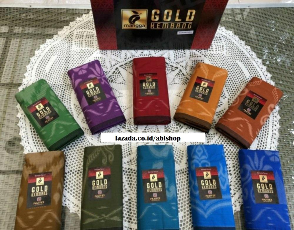 Sarung Tenun Cap Mangga Gold Kembang 10pcs