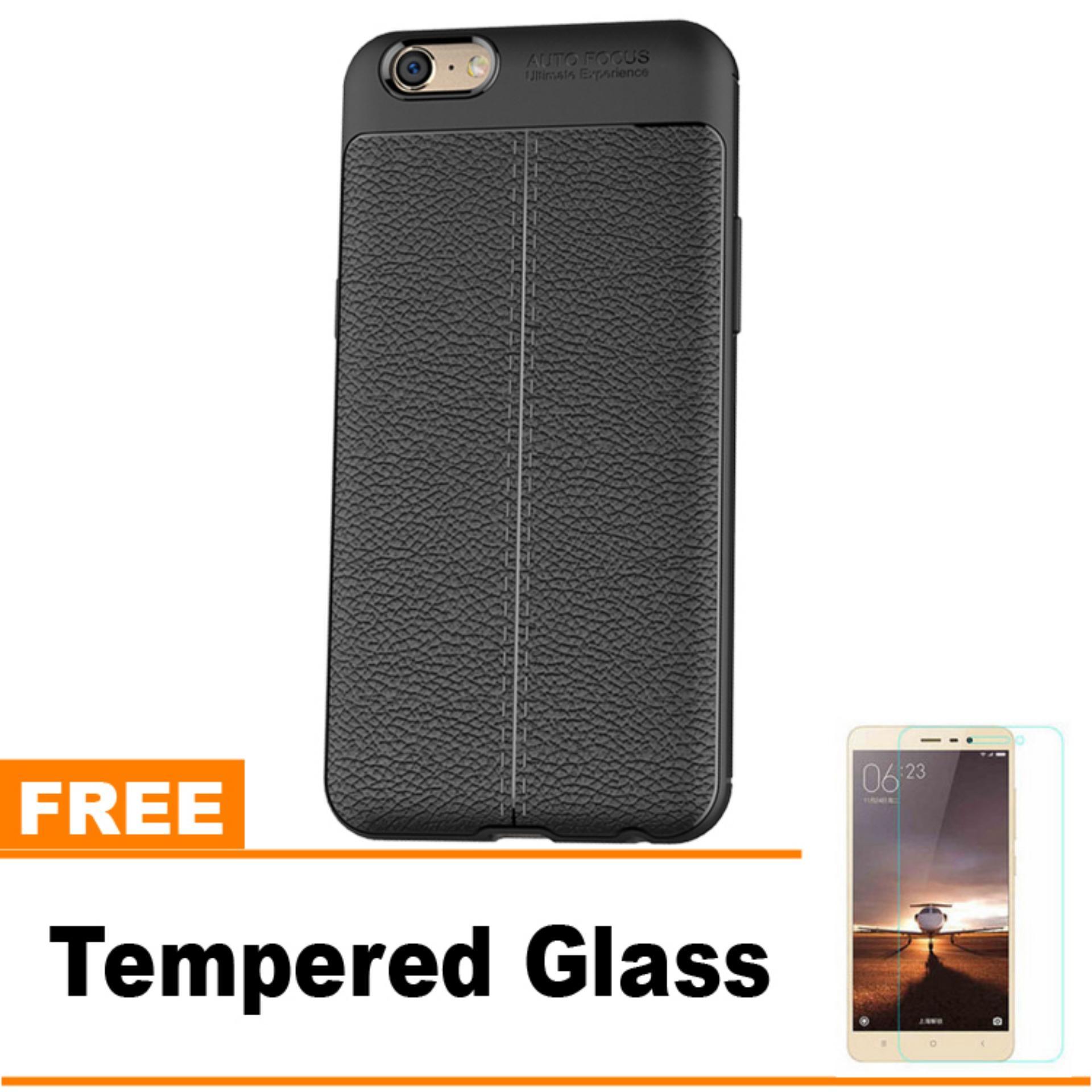 Original Lazada Case Auto Focus For Oppo A39 / A57 - Hitam - Hadiah Tempered Glass
