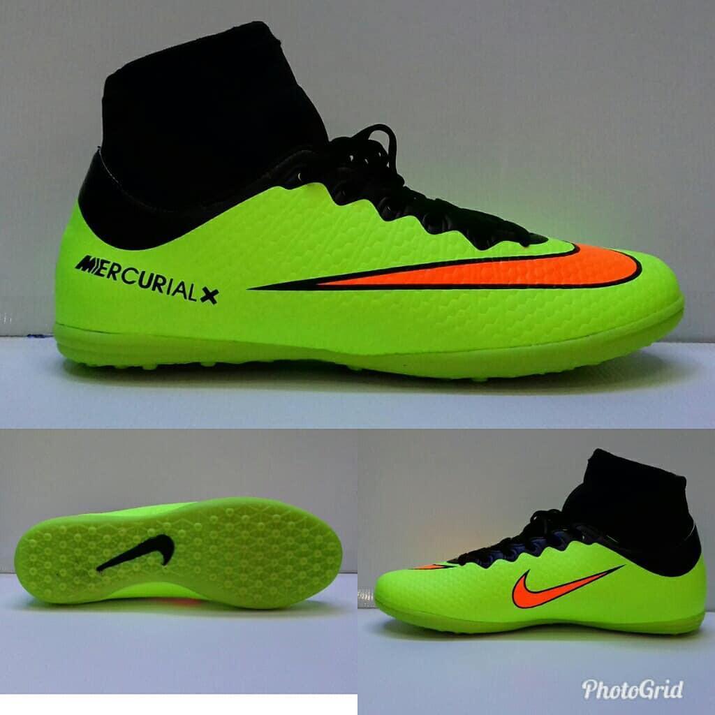 TERMURAH Sepatu olahraga futsal nike mercurial X high hijau hitam orange import man COWOK PRIA 39-43