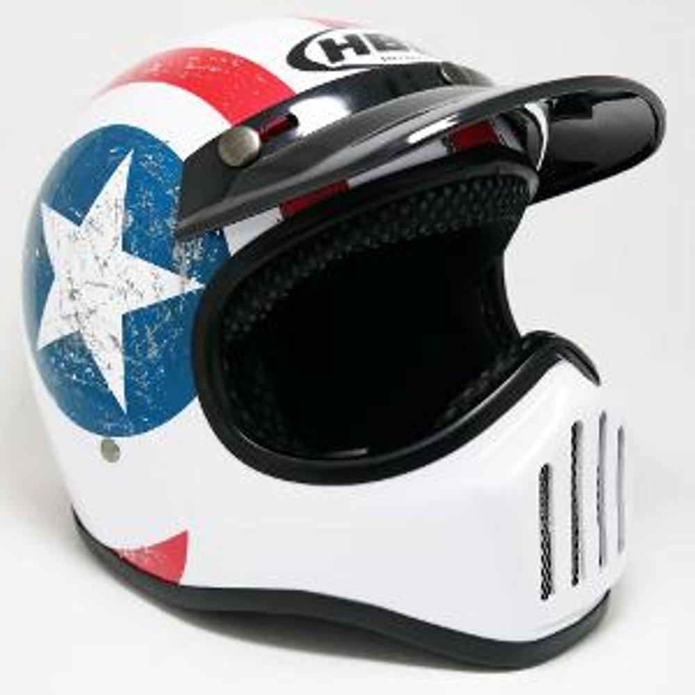 Helm Cakil Hbc Captain America Daftar Harga Terbaru Dan Terlengkap Steve Legend Hitam Doff Putih Retro Classic