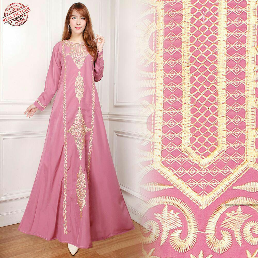 SB Collection Dress Maxi Brenda Longdress Kaftan Gamis Jumbo Batik Wanita