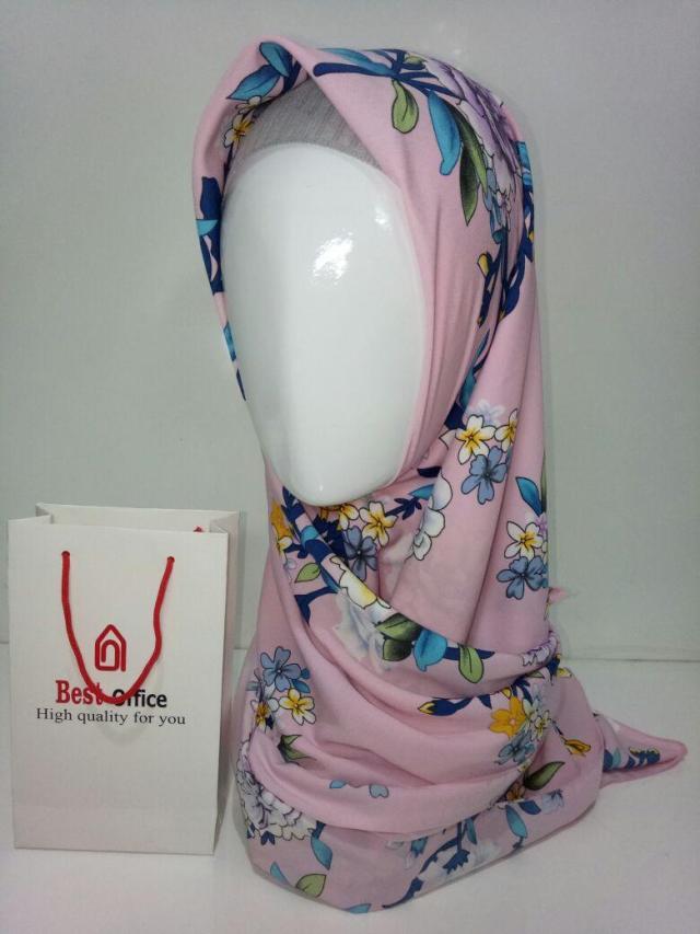 Jilbab Segiempat Motif AH037 Best Office  Hijab  Jilbab  Kerudun