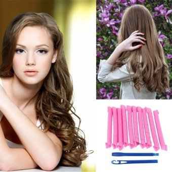 oh 10pcs twist circle hair curlers long ringlets spiral rollers styling tool lazada indonesia
