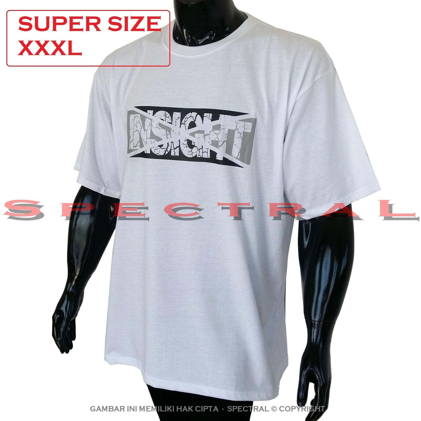 Spectral – 3XL SUPER BIG SIZE XXXL 100% Cotton Combed Kaos Distro Jumbo BIG T-Shirt Fashion Ukuran Besar Polos Celana Olahraga Atasan Pria Wanita Dewasa Bapak Orang Tua Muda  Gemuk Gendut Sport Casual Bagus Keren Baju Cowo Cewe Pakaian 3L INSIGHT RETAK
