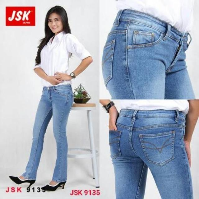 Celana Panjang Cutbray Jeans Wanita Bootcut Denim JSK JEANS IMPORT