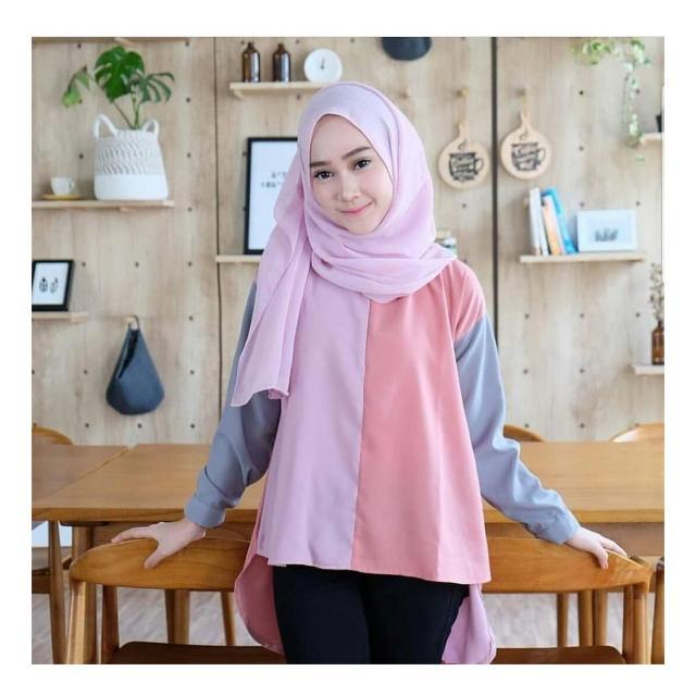 Baju Original Aisyah Blouse Balotely Pakaian Wanita Muslim Modern Atasan Cewek Muslimah Top Shirt Simple Trend 2018