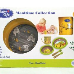 Baby Safe Feeding Mealtime Collection (Set Alat Makan Bayi) BPA Free - Kuning Koala