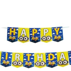 Banner Ulang Tahun Motif Minions / Banner Happy Birthday / Banner HBD Minions / Banner Ultah Anak