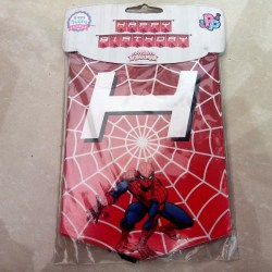 Banner Ulang Tahun Motif Spiderman / Banner Happy Birthday / Banner HBD Spiderman / Banner Ultah Anak / Banner HBD / Banner Spiderman