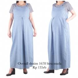 bajuhamil baju hamil overall hamil denim 1678