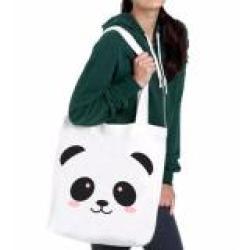 Sz Graphics Groups Lovely Panda Tote Bag Tote Bag Wanita Tas Wanita-Putih