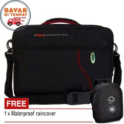 3in1 Polo Tas Ransel Laptop Tas Sekolah Tas Kerja Tas Outdoor Tas kuliyah Backpack Cassual Laptop Original Black Original Laptop Seris 3IN1 Multi Fungsi 34685 17 - Black Original