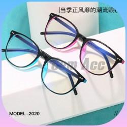 ã€Bayar di Tempat】Kacamata Anti Radiasi Korean Style Retro Square Wanita/Pria Sunglasses
