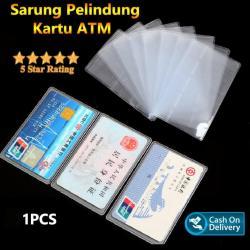 Berkah Jaya - Plastik Pelindung Kartu ATM / SIM / KTP / Kartu Nama Cover - 1 Pcs