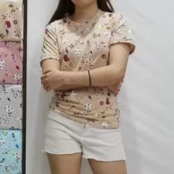 Baju wanita lengan pendek / baju casual outfit / cute and simple design / bahan nyaman